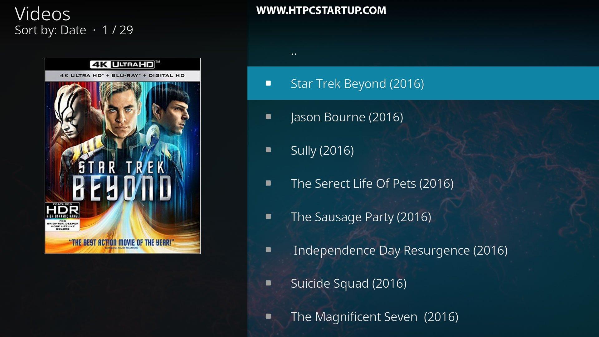 Kodi 4K Movies