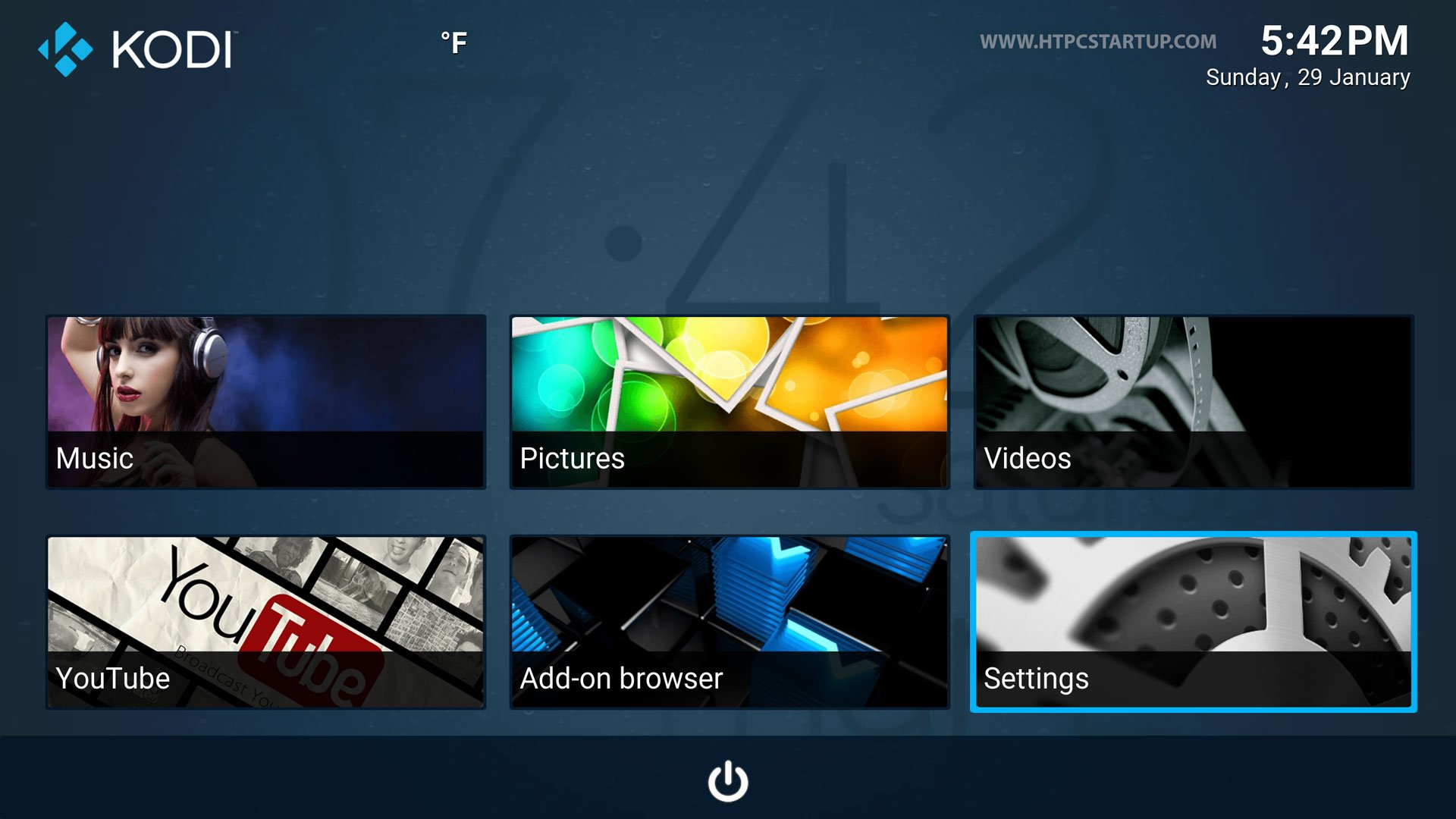 Kodi Titan Skin menu screen 2