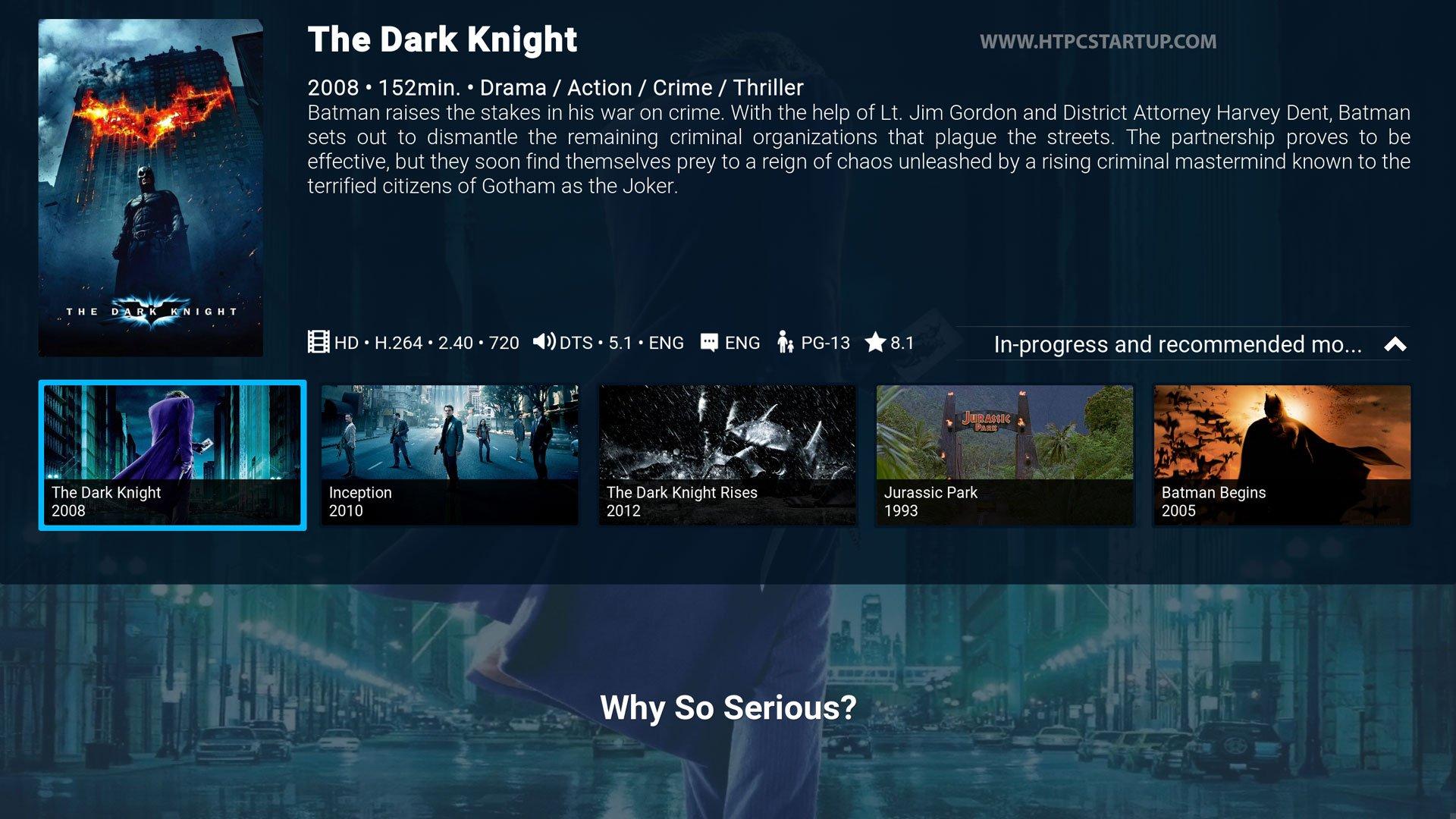Kodi Titan Skin spotlight