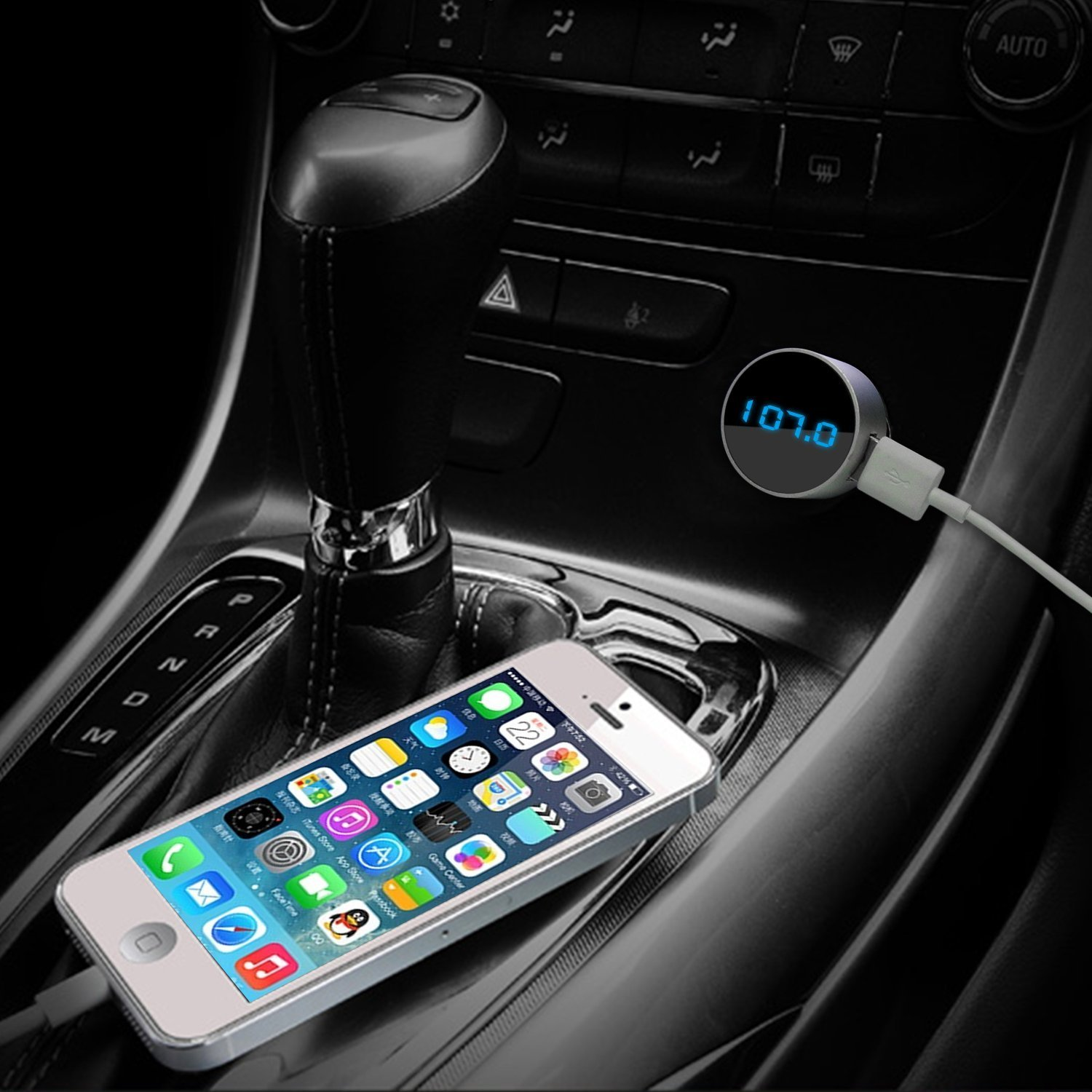 Listen to music on phone in car without bluetooth or aux