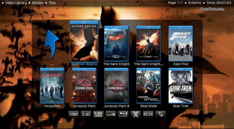 Kodi Transparency - Movies