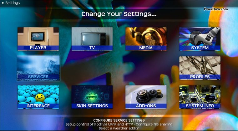 Kodi Transparency - Settings