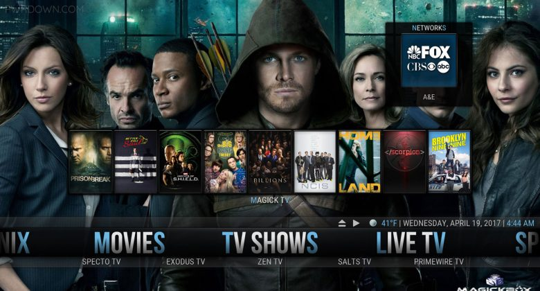 Kodi MagickTV Myth Build tv shows