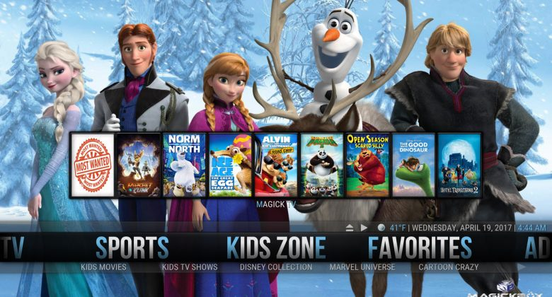 Kodi MagickTV Myth Build kids zone