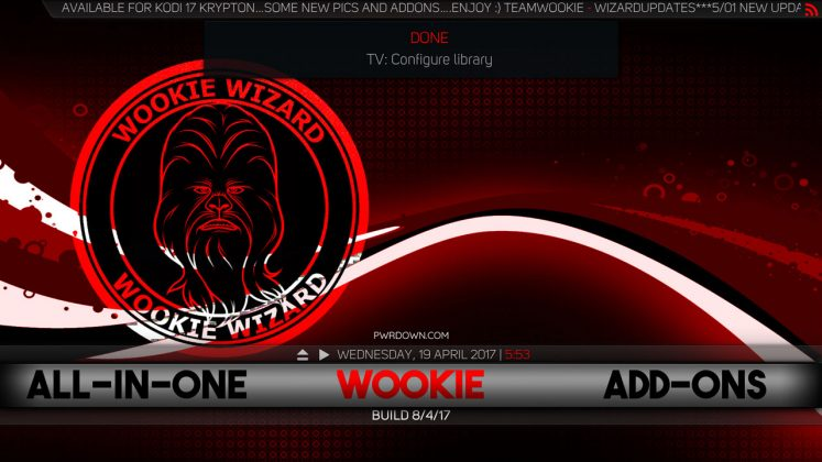 Kodi Wookie Build Wookie