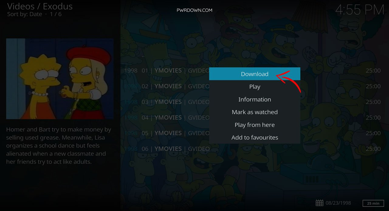 Download movies and tv shows from Kodi guide