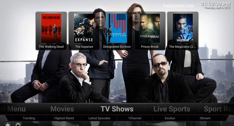 Kodi Titanium Build TV Shows