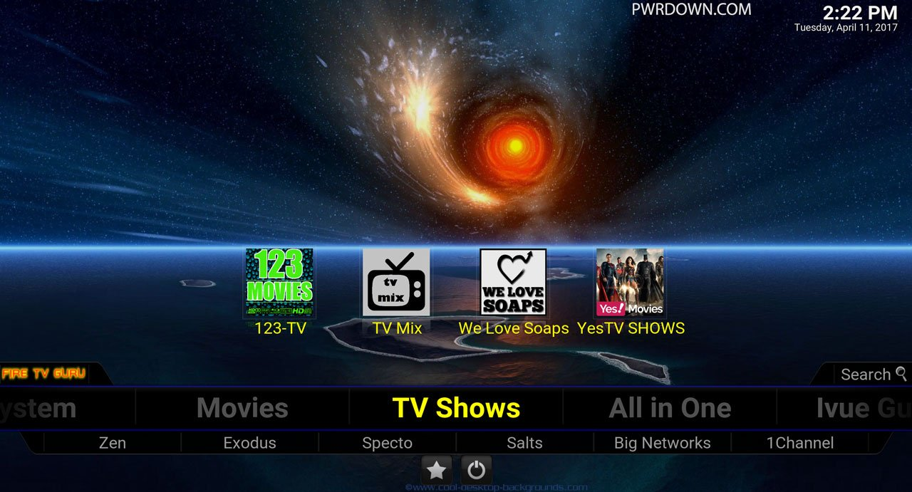 Fire TV Guru Build for Kodi TV Shows
