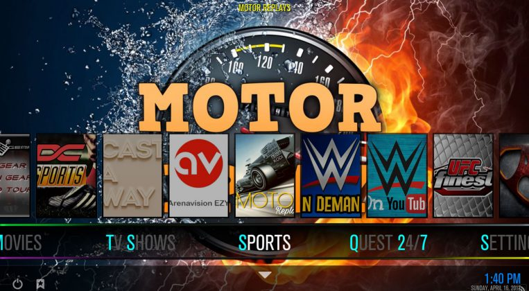 Kodi Quest Media Build Sports