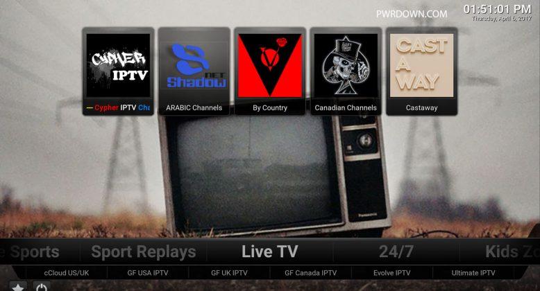 Kodi Titanium Build Live TV