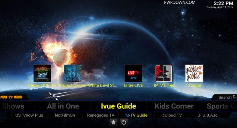 Fire TV Guru Build for Kodi IVue Guide