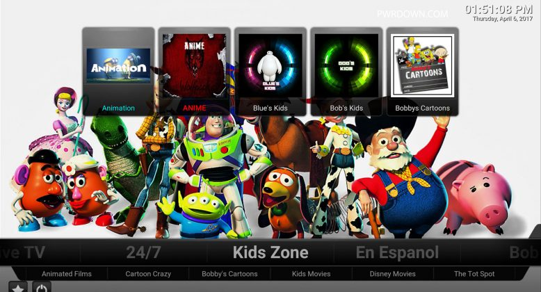 Kodi Titanium Build Kids Zone