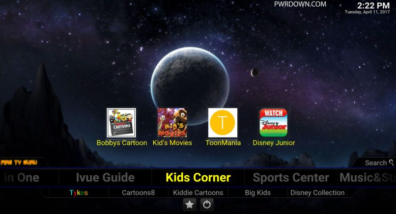 Fire TV Guru Build for Kodi Kids Corner