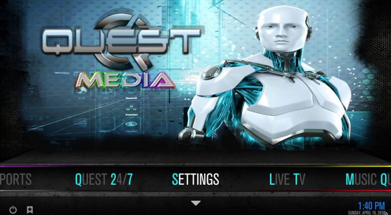 Kodi Quest Media Build Settings