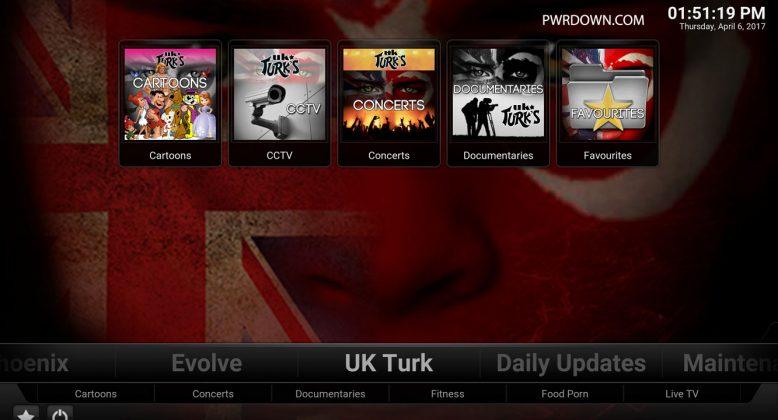 Kodi Titanium Build UK Turk