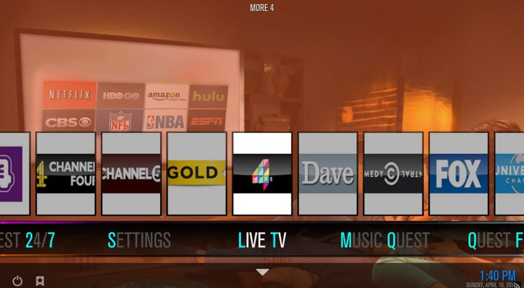 Kodi Quest Build Media Live TV
