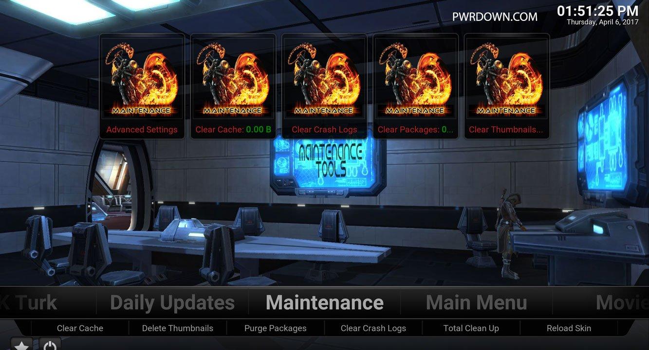 Kodi Titanium Build Maintenance