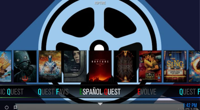 Kodi Quest Media Build Spanish section
