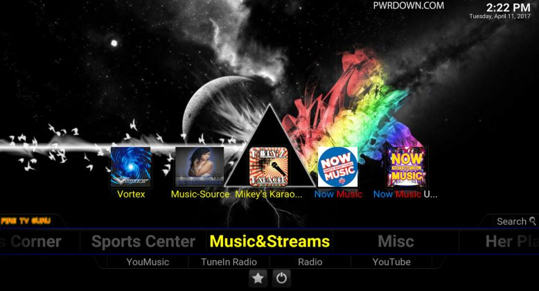 Fire TV Guru Build for Kodi Music & Streams