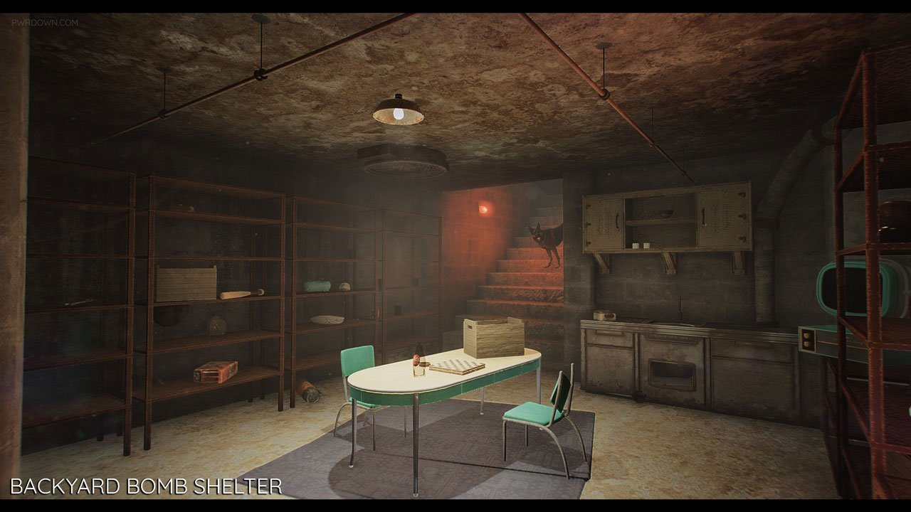 Fallout 4 bunkers mod new player homes pwrdown for Las vegas homes with basements