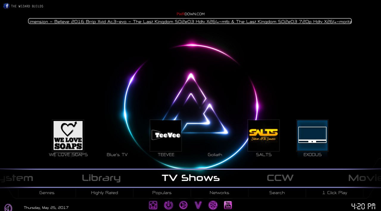 Kodi prism build TV Shows