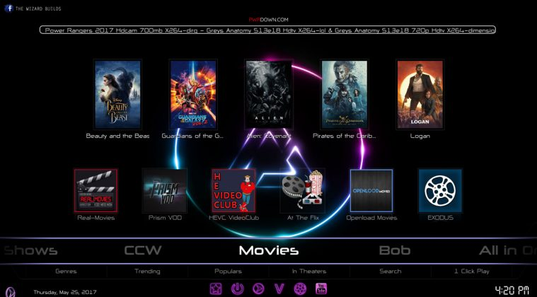 Kodi prism build Movies