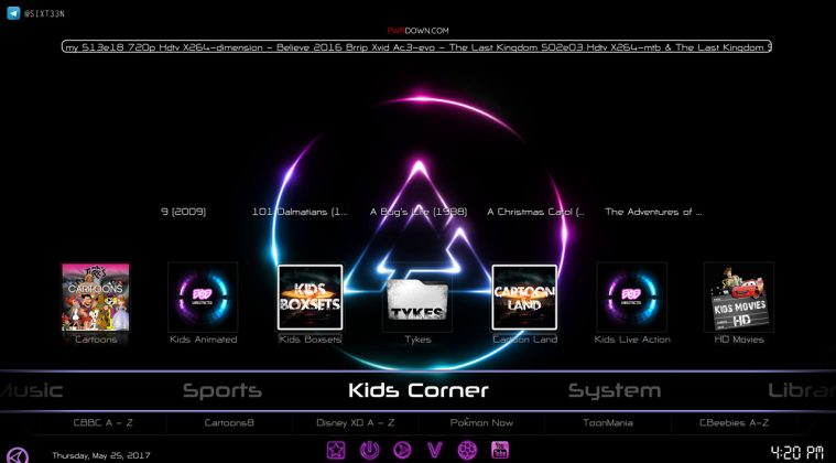 Kodi prism build Kids Corner