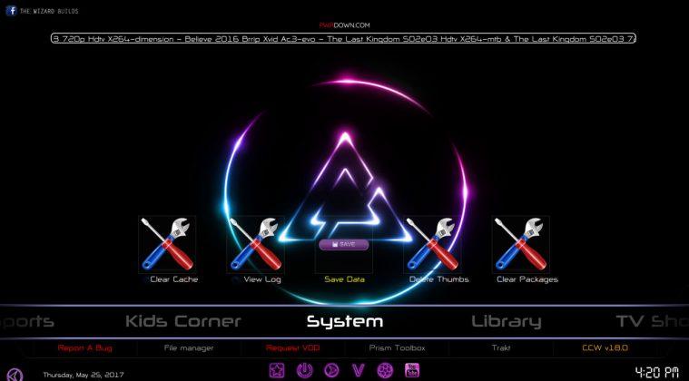 Kodi prism build System