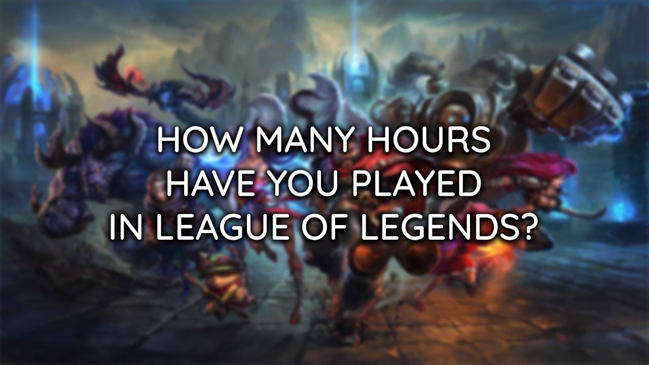league of legends hours played