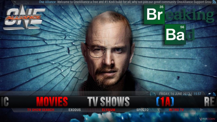 Kodi One Alliance Build TV Shows