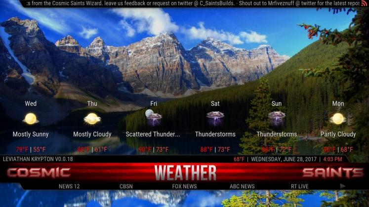 Kodi Leviathan Build Weather