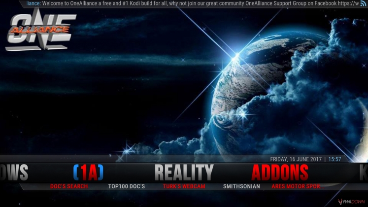 Kodi One Alliance Build Reality