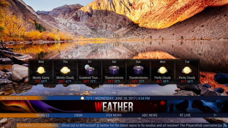 Kodi 4K Build Weather