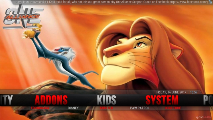 Kodi One Alliance Build Kids