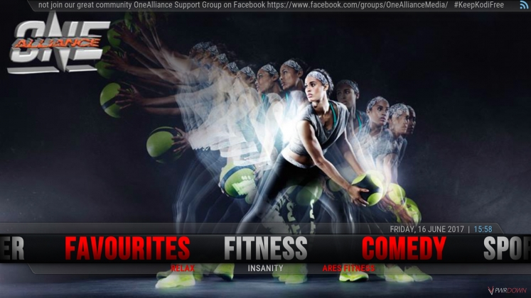 Kodi One Alliance Build Fitness