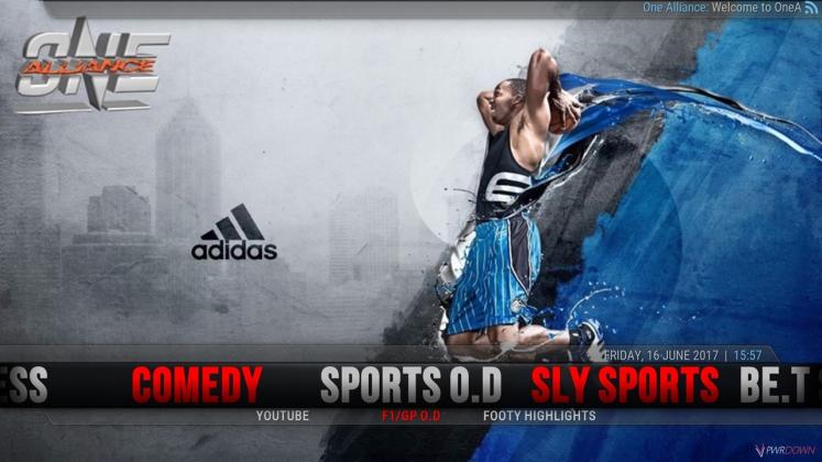 Kodi One Alliance Build Sports