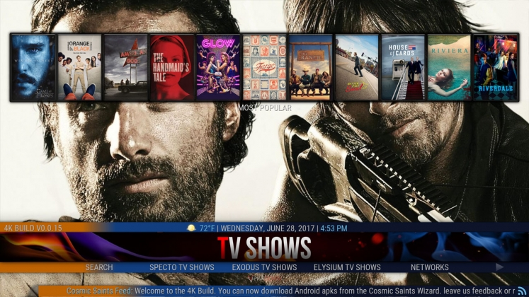 Kodi 4K Build TV Shows