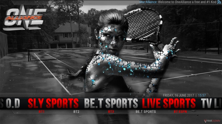 Kodi One Alliance Build BET Sports