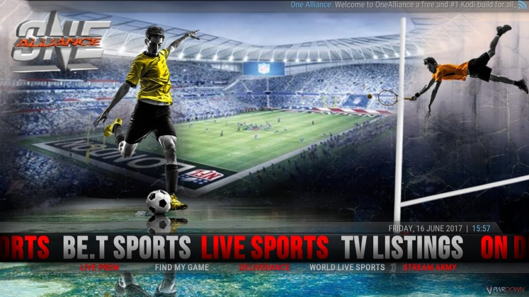 Kodi One Alliance Build Live Sports