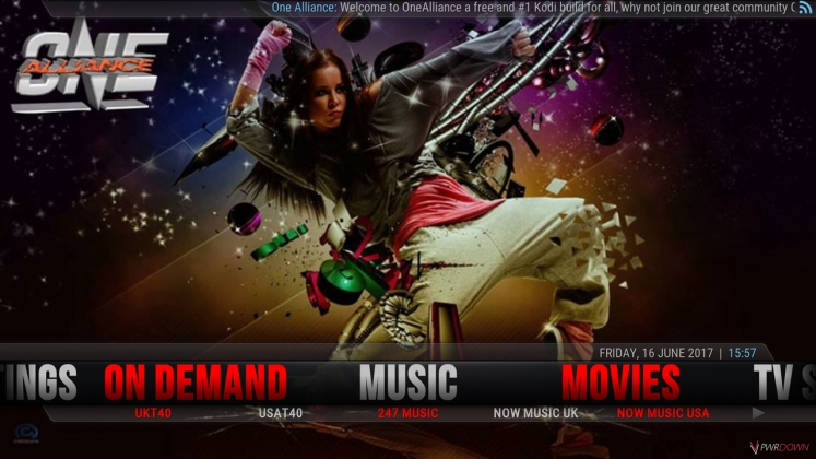Kodi One Alliance Build Music
