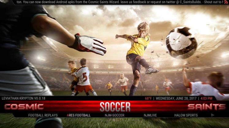Kodi Leviathan Build Soccer