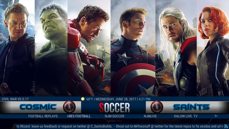 Kodi Civil War Build Soccer