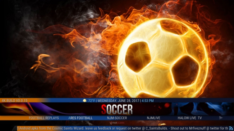 Kodi 4K Build Soccer