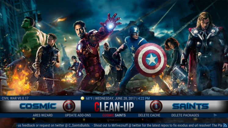 Kodi Civil War Build Clean-up