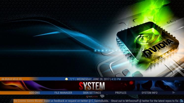Kodi 4K Build System