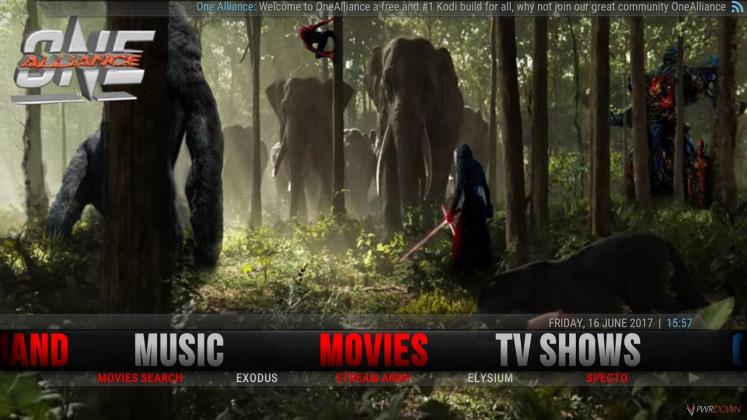 Kodi One Alliance Build Movies