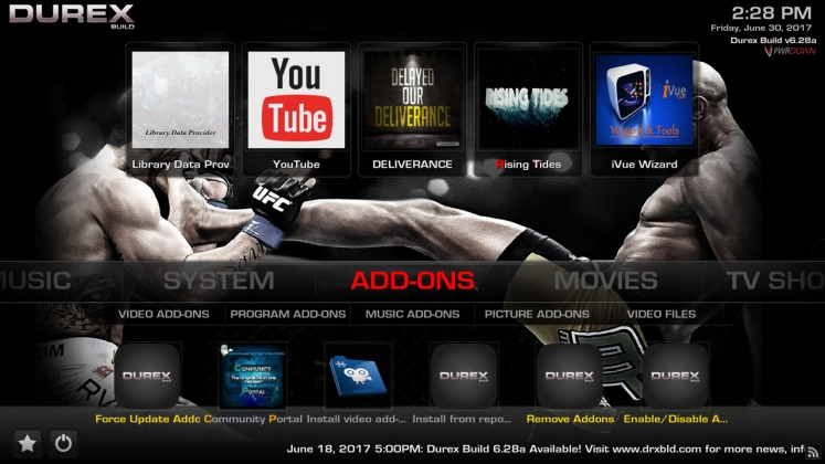 Kodi Durex Build Addons