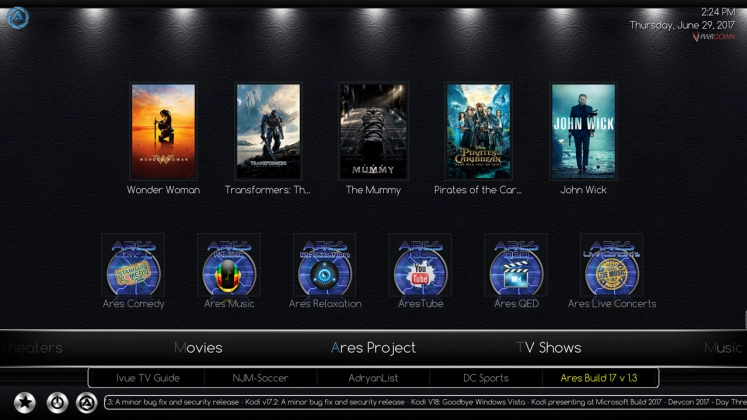 Kodi Ares Build Ares Project