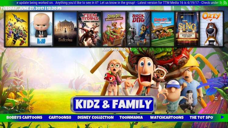 Kodi TTM Media Build Kids & Family