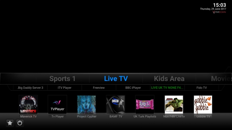 Kodi Brians Build Live TV